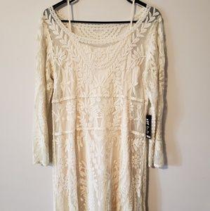Express cream lace dress
